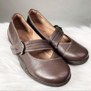 Sanita Jytta Leather Closed Toe Mary Jane Flats 8